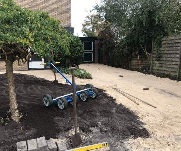 Mol sierbestrating grondwerk oprit